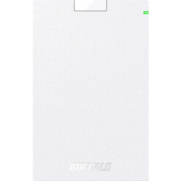 【送料無料】バッファロー HD-PGAC2U3-WA USB3.2(Gen1)対応ポータブルHDD Type-Cケーブル付 2TB ホワイト【在庫目安:お取り寄せ】| パソコン周辺機器 ポータブル