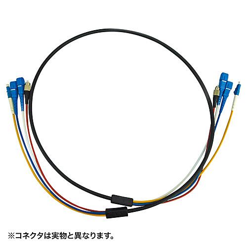 【送料無料】サンワサプライ HKB-SCSCWPRB1-10 防水ロバスト光ファイバケーブル(10m・ブラック)【在庫目安:お取り寄せ】