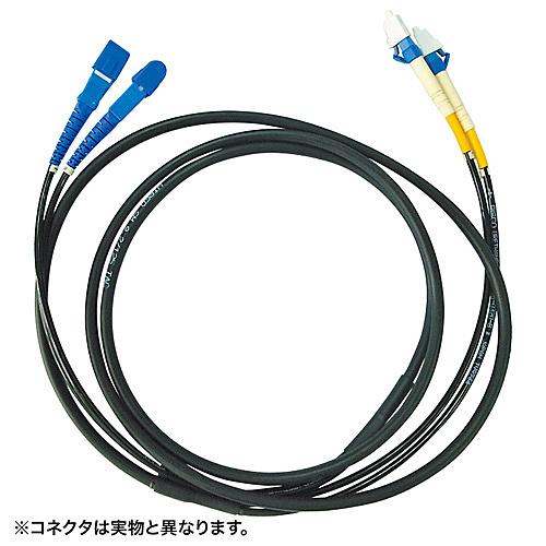 【送料無料】サンワサプライ HKB-FCFCTA1-20 タクティカル光ファイバケーブル(20m・ブラック)【在庫目安:お取り寄せ】