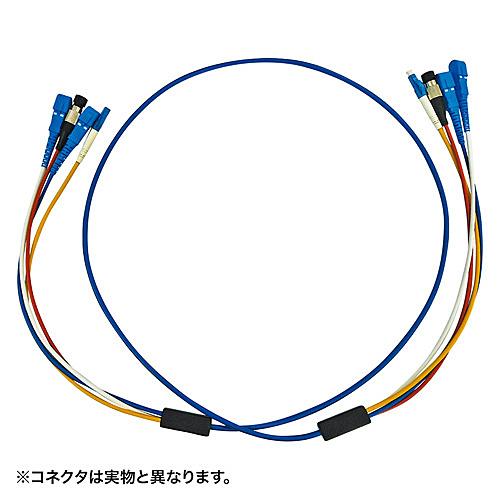 【送料無料】サンワサプライ HKB-LCLCRB1-10 ロバスト光ファイバケーブル(10m・ブルー)【在庫目安:お取り寄せ】