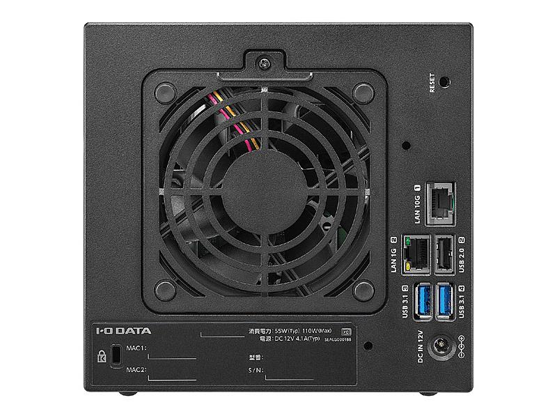 【送料無料】IODATA HDL4-XA16 10GbE&マルチギガビット対応 Linuxベース法人向け4ドライブNAS 16TB【在庫目安:お取り寄せ】  NAS RAID レイド