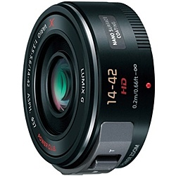 【送料無料】Panasonic H-PS14042-K デジタル一眼カメラ用交換レンズ LUMIX G X VARIO PZ 14-42mm/ F3.5-5.6 ASPH./ POWER O.I.S. (ブラック)【在庫目安:お取り寄せ】  カメラ ズームレンズ 交換レンズ レンズ ズーム 交換 マウント