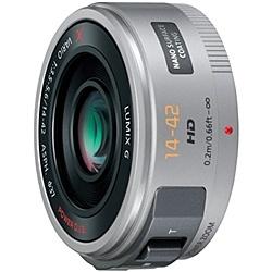 【送料無料】Panasonic H-PS14042-S デジタル一眼カメラ用交換レンズ LUMIX G X VARIO PZ 14-42mm/ F3.5-5.6 ASPH./ POWER O.I.S. (シルバー)【在庫目安:お取り寄せ】| カメラ ズームレンズ 交換レンズ レンズ ズーム 交換 マウント