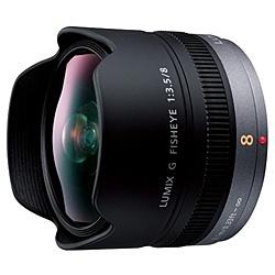 【送料無料】Panasonic H-F008 デジタル一眼カメラ用交換レンズ LUMIX G FISHEYE 8mm/ F3.5【在庫目安:お取り寄せ】| カメラ 交換レンズ レンズ 交換 マウント