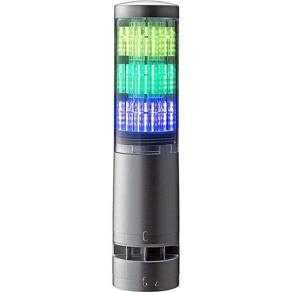 【送料無料】パトライト LA6-3DTNUB-RYG 積層情報表示灯 レボライト LA6型 3段/ シルバー/ 点滅・ブザー【在庫目安:お取り寄せ】