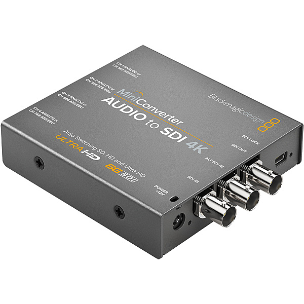 【送料無料】Blackmagic Design CONVMCAUDS4K Mini Converter Audio to SDI 4K【在庫目安:お取り寄せ】| パソコン周辺機器 グラフィック ビデオ オプション ビデオ パソコン PC