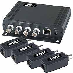 【送料無料】ジョブル IP01K イーサネット4系統同軸ケーブル伝送セット【在庫目安:お取り寄せ】| パソコン周辺機器 複合エクステンダー エクステンダー PC パソコン