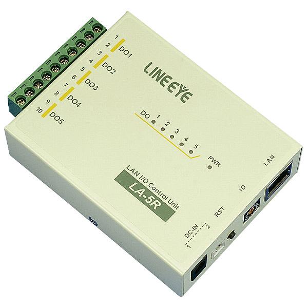 【送料無料】ラインアイ LA-5R(G) LAN接続型デジタルIOユニット リレー接点5出力【在庫目安:お取り寄せ】
