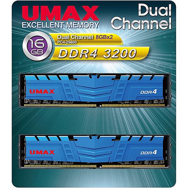 【送料無料】UMAX UM-DDR4D-3200-16GBHS ディスクトップ用メモリー UDIMM DDR4-3200 16GB(8GB×2) H/ S【在庫目安:お取り寄せ】