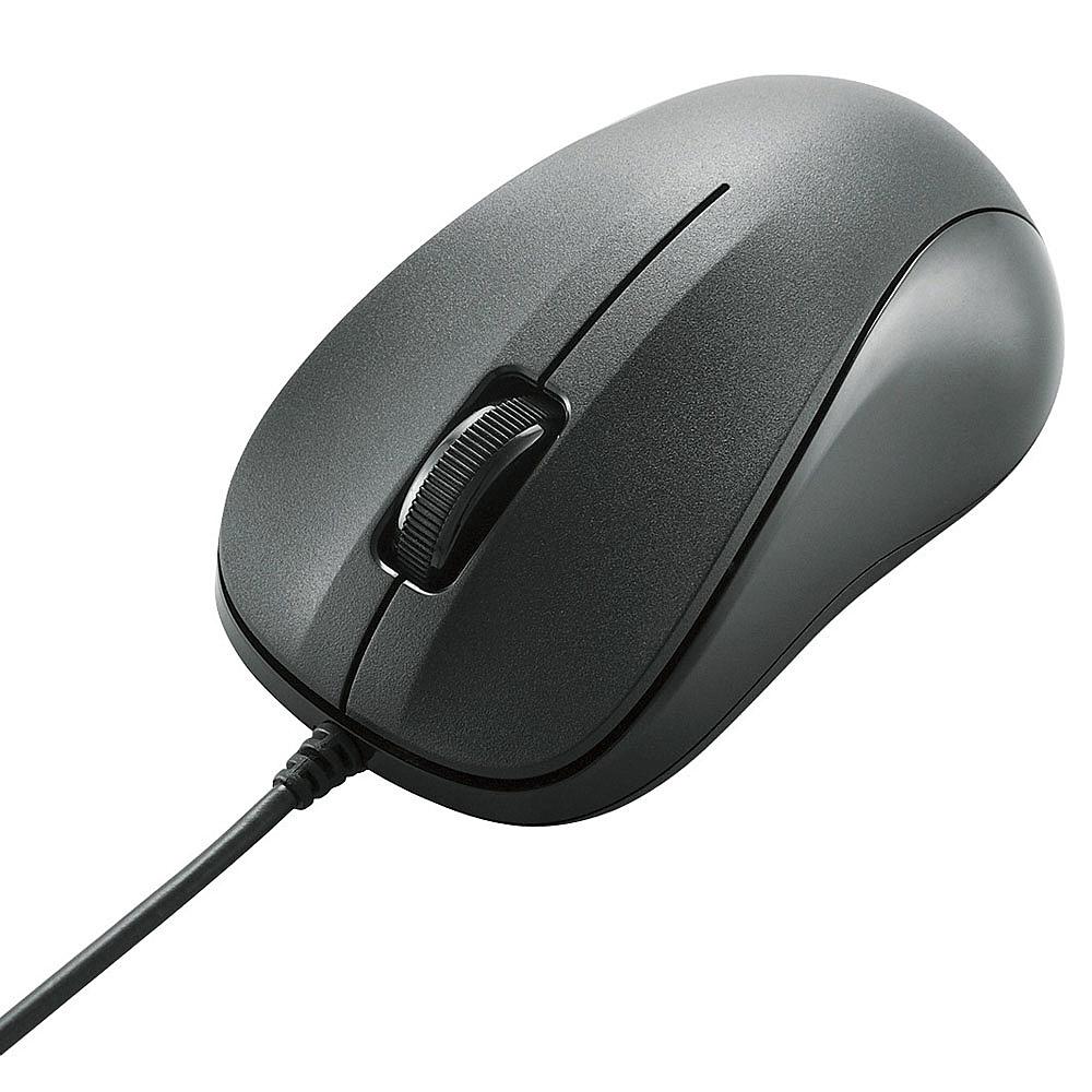 【在庫目安:あり】ELECOM M-K5URBK/RS EU RoHS指令準拠 USB光学式マウス/ コンパクトサイズ/ 簡易パッケージ仕様/ ブラック
