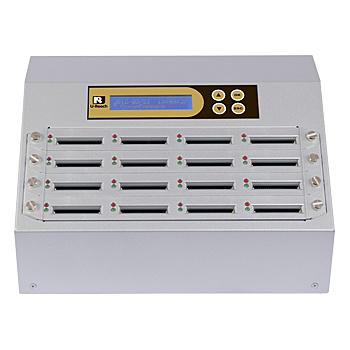 U-Reach Japan 16ポート CFデュプリケータ Intelligent 9 Golden CF916G 1:15のコピーおよび最大15枚のCFの同時消去が可能。ログ出力機能搭載。転送速度65MB/ 秒【在庫目安:お取り寄せ】| パソコン周辺機器