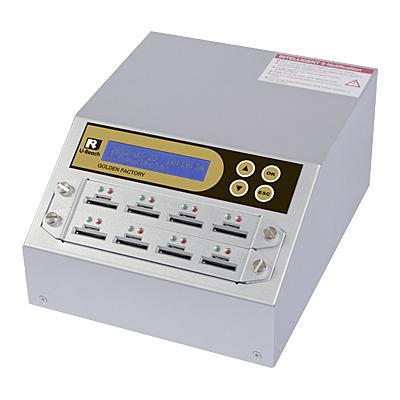 【送料無料】U-Reach Japan 8ポート SDデュプリケータ Intelligent 9 Golden SD908G 1:7のコピーおよび最大8枚のSDカードの同時消去が可能。ログ出力機能搭載。転送速度33MB/ 秒【在庫目安:お取り寄せ】| パソコン周辺機器