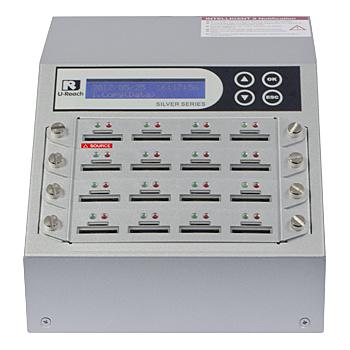 【送料無料】U-Reach Japan 16ポート SDデュプリケータ Intelligent 9 Silver SD916S 1:15のコピーおよび最大16枚のSDカードの同時消去が可能。転送速度33MB/ 秒【在庫目安:お取り寄せ】| パソコン周辺機器