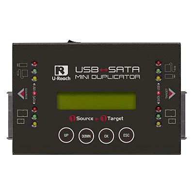 【送料無料】U-Reach Japan HQ200H 1:1 USB/ SATAデュプリケータ HQ200 USBおよびSATA HDD/ SSDのコピー、消去が可能な小型デュプリケータ【在庫目安:お取り寄せ】