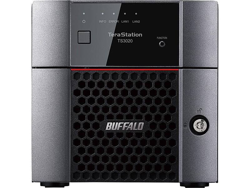 【送料無料】バッファロー TS3220DN0802 TeraStation TS3220DNシリーズ 2ベイデスクトップNAS 8TB【在庫目安:お取り寄せ】| NAS RAID レイド