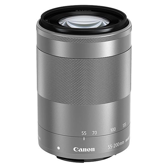 【送料無料】Canon 1122C001 EF-M55-200mm F4.5-6.3 IS STM (シルバー)【在庫目安:お取り寄せ】| カメラ ズームレンズ 交換レンズ レンズ ズーム 交換 マウント