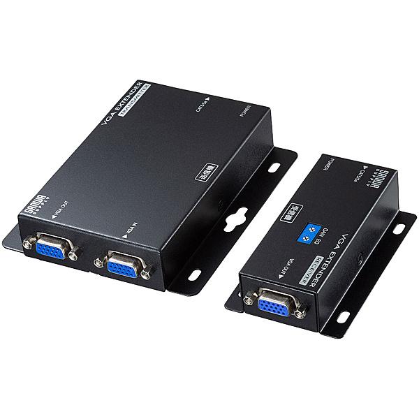 【送料無料】サンワサプライ VGA-EXSET2N ディスプレイエクステンダー(セットモデル)【在庫目安:お取り寄せ】