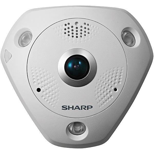 【送料無料】SHARP YK-F121B 業務用ネットワーク監視カメラ 全方位タイプ屋内12M【在庫目安:お取り寄せ】| カメラ ネットワークカメラ ネカメ 監視カメラ 監視 屋内 録画