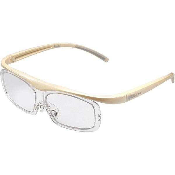 【送料無料】ケンコー・トキナー KTL5108LIV 眼鏡型拡大鏡 ユイルーペ(YUIルーペ) ラージサイズ 1.6倍+1.89倍セット KTL-5108L IV (アイボリー)【在庫目安:お取り寄せ】| 光学機器 拡大鏡 ルーペ 拡大 虫眼鏡