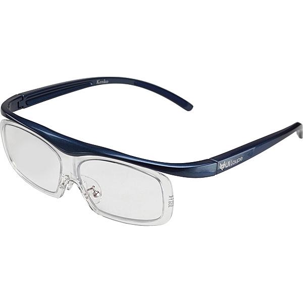 【送料無料】ケンコー・トキナー KTL5107LBL 眼鏡型拡大鏡 ユイルーペ(YUIルーペ) ラージサイズ 1.6倍+1.89倍セット KTL-5107L BL (ブルー)【在庫目安:お取り寄せ】  光学機器 拡大鏡 ルーペ 拡大 虫眼鏡