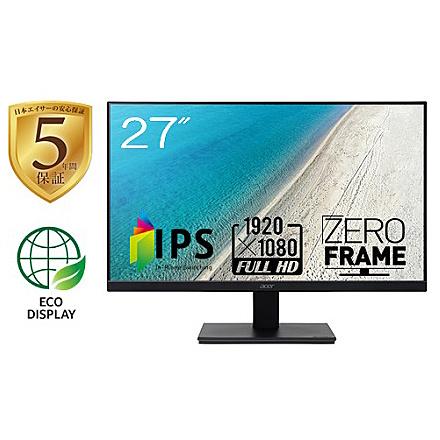 【在庫目安:あり】【送料無料】Acer 5年保証 27型ワイド液晶ディスプレイ V277bmix (IPS/ 非光沢/ 1920x1080/ フルHD/ 250cd/ 4ms/ スピーカー内蔵/ ミニD-Sub 15ピン・HDMI 1.4)