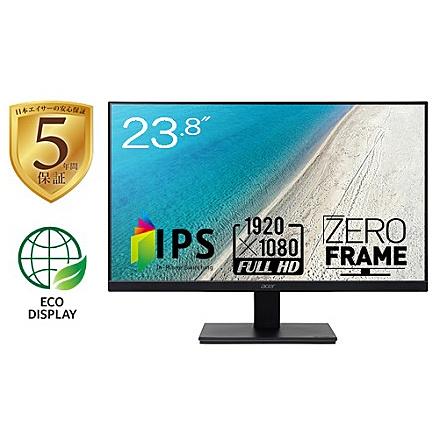 【在庫目安:あり】【送料無料】Acer 5年保証 23.8型ワイド液晶ディスプレイ V247Ybmix (IPS/ 非光沢/ 1920x1080/ フルHD/ 250cd/ 4ms/ スピーカー内蔵/ ミニD-Sub 15ピン・HDMI 1.4)  家電 ディスプレイ ディスプレー モニター モニタ 液晶 液晶モニター