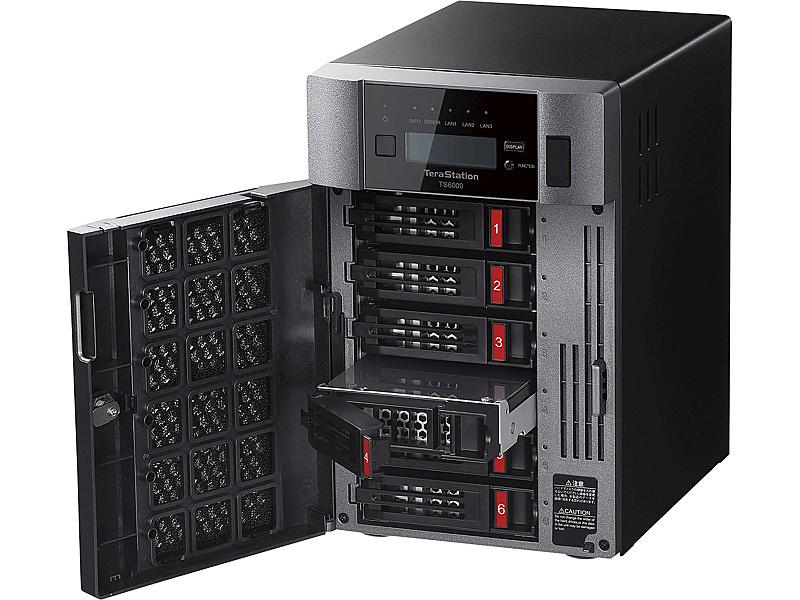 【送料無料】バッファロー TS6600DN2406 TeraStation TS6000DNシリーズ 6ベイ デスクトップNAS 24TB【在庫目安:僅少】| NAS RAID レイド