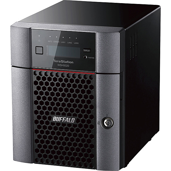 【送料無料】バッファロー WSH5420DN16W9 ハードウェアRAID TeraStation WSH5420DNW9シリーズ 4ベイ デスクトップNAS 16TB Workgroup【在庫目安:お取り寄せ】| パソコン周辺機器 WindowsNAS Windows Nas RAID 外付け 外付