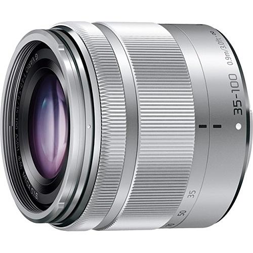 【送料無料】Panasonic H-FS35100-S デジタル一眼カメラ用交換レンズ LUMIX G VARIO 35-100mm/ F4.0-5.6 ASPH./ MEGA O.I.S. (シルバー)【在庫目安:お取り寄せ】  カメラ ズームレンズ 交換レンズ レンズ ズーム 交換 マウント