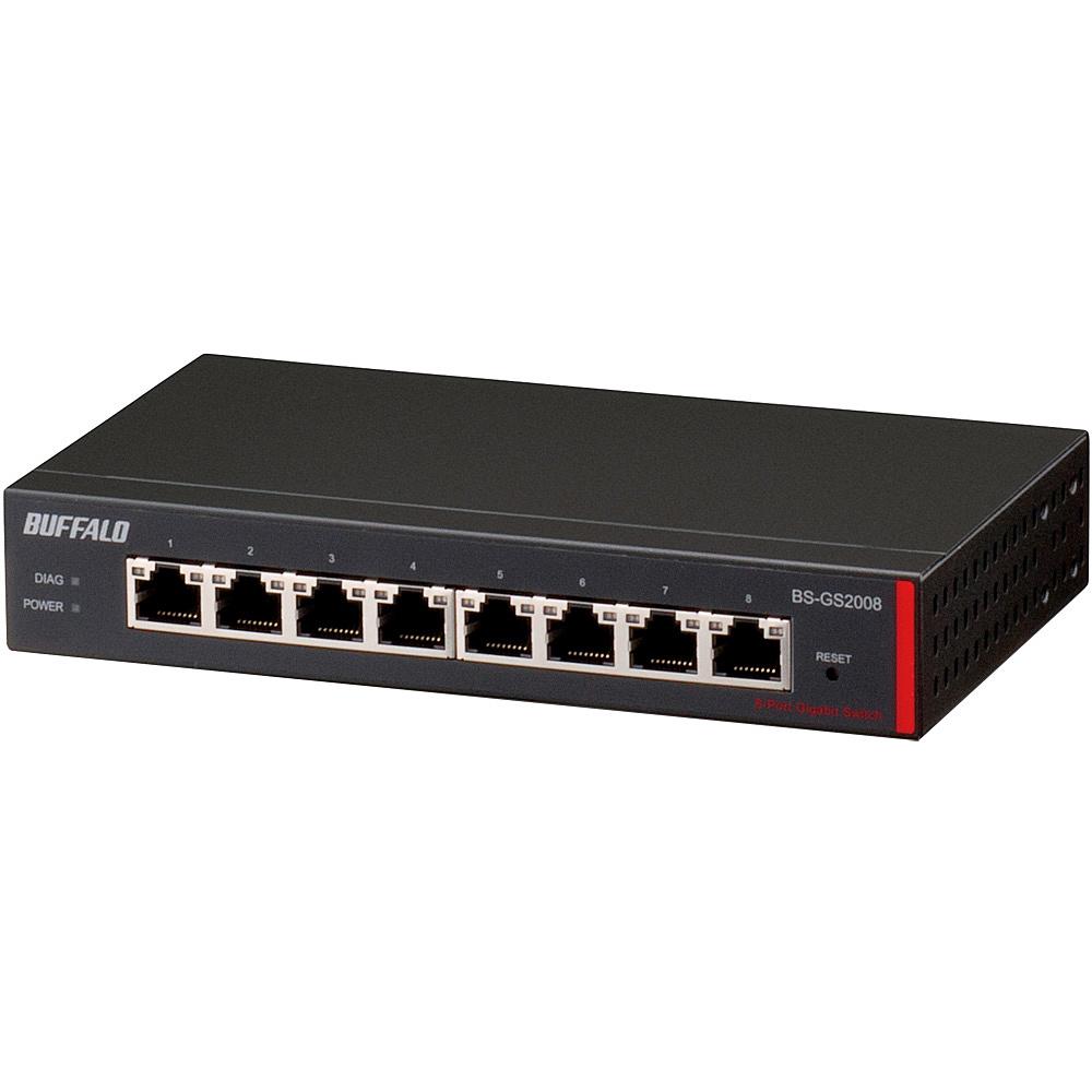 【在庫目安:あり】【送料無料】BUFFALO BS-GS2008 レイヤー2 Giga スマートスイッチ 8ポート| パソコン周辺機器 スイッチングハブ L2スイッチ レイヤー2スイッチ スイッチ ハブ L2 ネットワーク PC パソコン
