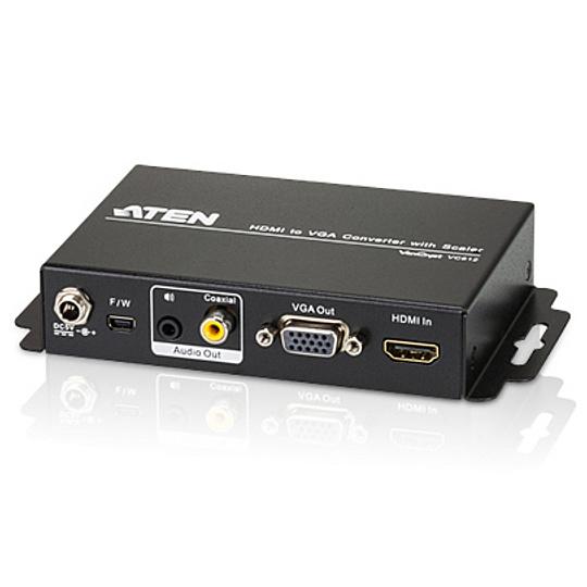 【送料無料】ATEN VC812 スケーラー搭載HDMI to オーディオ・VGAコンバーター【在庫目安:お取り寄せ】