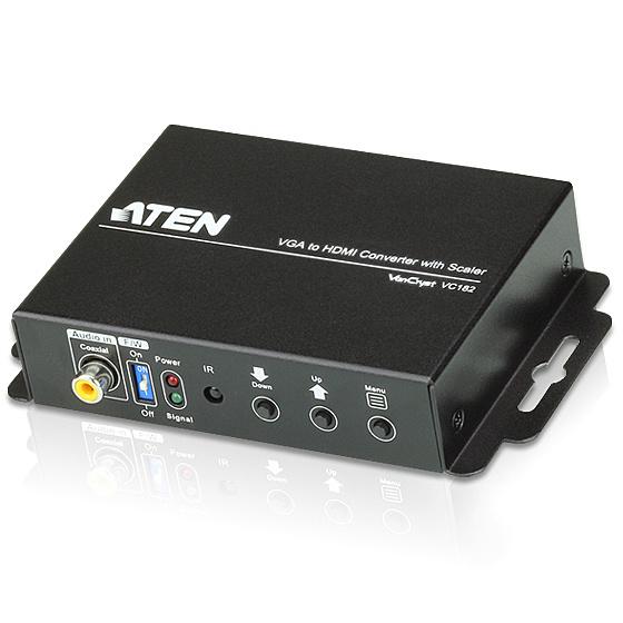 【送料無料】ATEN VC182 スケーラー搭載オーディオ・VGA to HDMIコンバーター【在庫目安:お取り寄せ】