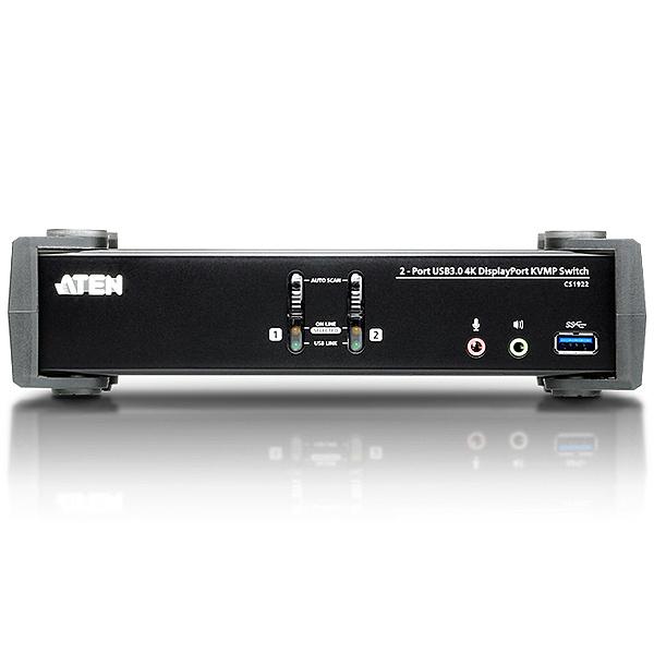【送料無料】ATEN CS1922 USB 3.0ハブ搭載 2ポートUSB DisplayPort1.2 KVMPスイッチ【在庫目安:お取り寄せ】