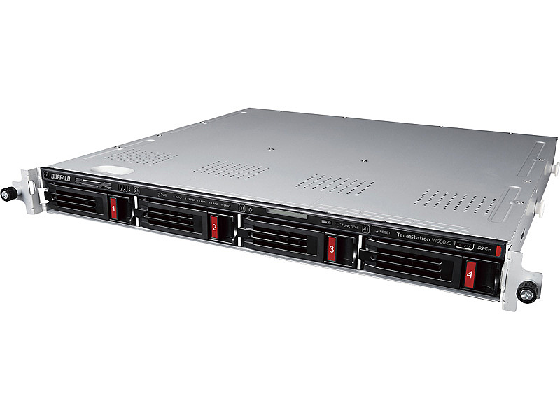 【送料無料】バッファロー WS5420RN12W9 Windows Server IoT 2019 for Storage Workgroup Edition搭載 4ベイラックマウントNAS 12TB【在庫目安:僅少】| パソコン周辺機器
