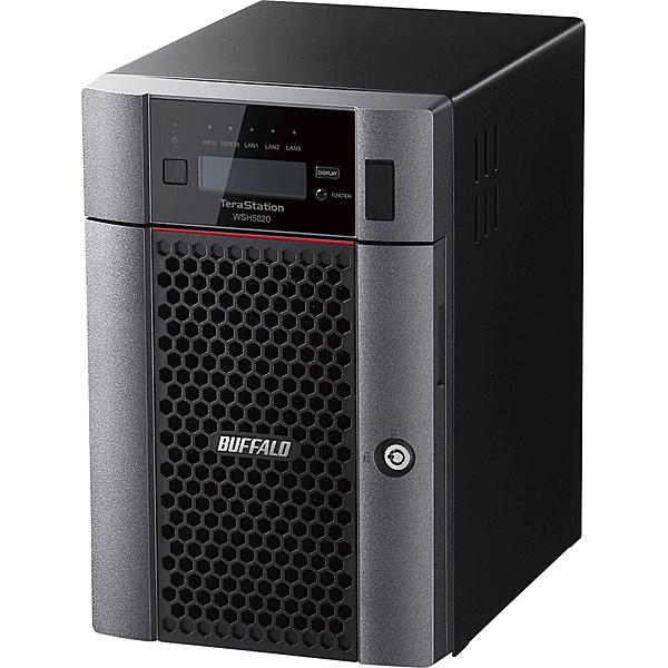 【送料無料】バッファロー WSH5620DN36S9 ハードウェアRAID Windows Server IoT 2019 for Storage Standard Edition搭載 6ベイデスクトップNAS 36TB【在庫目安:僅少】  パソコン周辺機器