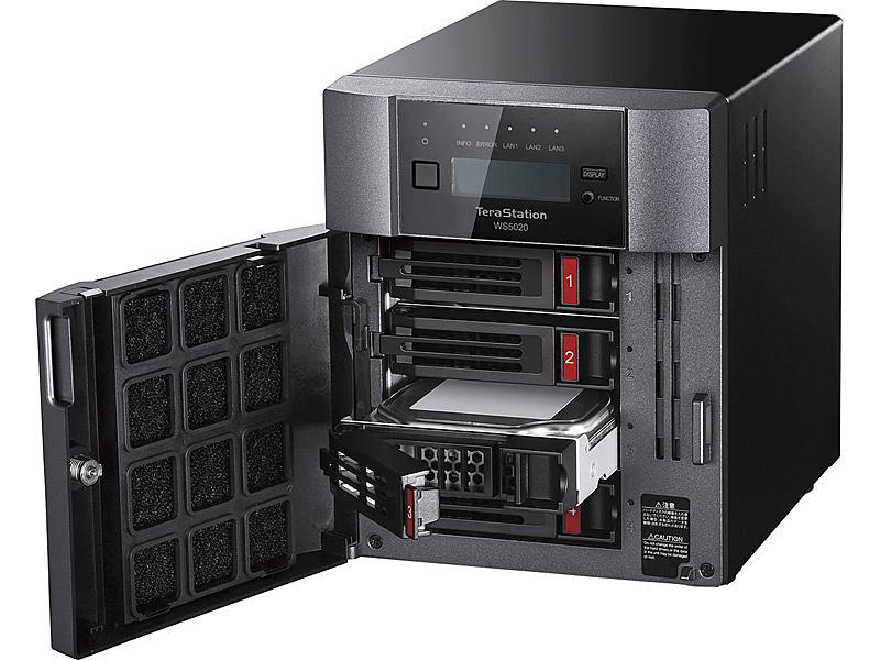 【送料無料】バッファロー WS5420DN08W9 Windows Server IoT 2019 for Storage Workgroup Edition搭載 4ベイデスクトップNAS 8TB【在庫目安:僅少】| パソコン周辺機器 WindowsNAS Windows Nas RAID 外付け 外付