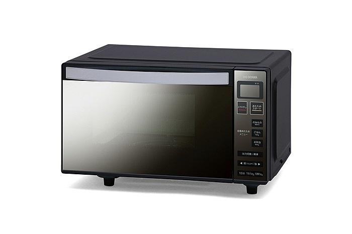 【送料無料】アイリスオーヤマ MO-FM1804-B 電子レンジ フラットテーブル ミラーガラス ブラック【在庫目安:僅少】| キッチン家電 一人暮らし 肉 魚 家電 新生活