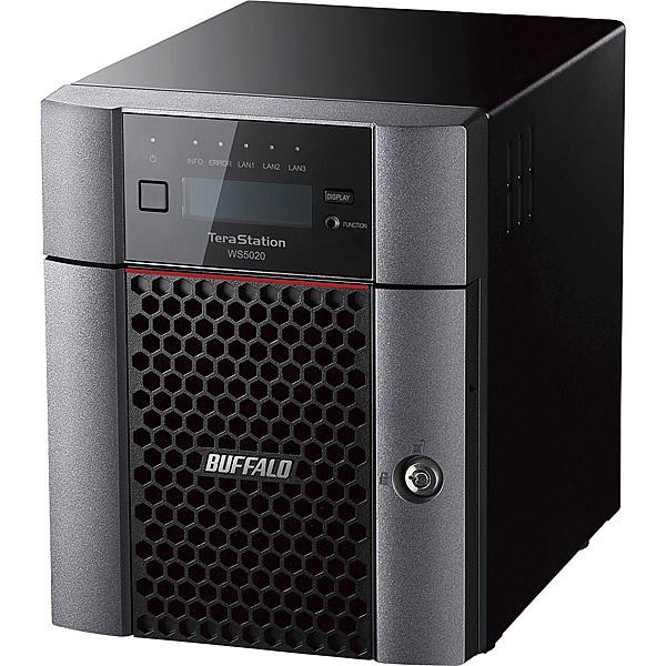 【送料無料】バッファロー WS5420DN04W9 Windows Server IoT 2019 for Storage Workgroup Edition搭載 4ベイデスクトップNAS 4TB【在庫目安:お取り寄せ】| パソコン周辺機器 WindowsNAS Windows Nas RAID 外付け 外付
