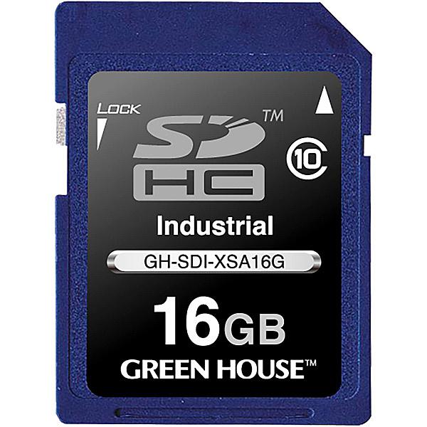 【送料無料】グリーンハウス GH-SDI-XSA16G インダストリアルSDHCカード SLC -40~+85℃ 16GB【在庫目安:お取り寄せ】