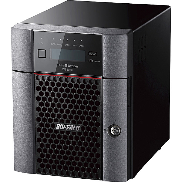 【送料無料】バッファロー WS5420DN12W9 Windows Server IoT 2019 for Storage Workgroup Edition搭載 4ベイデスクトップNAS 12TB【在庫目安:お取り寄せ】| パソコン周辺機器 WindowsNAS Windows Nas RAID 外付け 外付