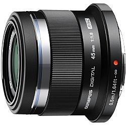 【送料無料】OLYMPUS 45mm F1.8 BLK マイクロフォーサーズ用 M.ZUIKO DIGITAL 45mm F1.8 (ブラック)【在庫目安:お取り寄せ】| カメラ 単焦点レンズ 交換レンズ レンズ 単焦点 交換 マウント ボケ