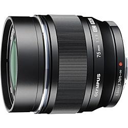 【送料無料】OLYMPUS ED 75mm F1.8 BLK マイクロフォーサーズ用 M.ZUIKO DIGITAL ED 75mm F1.8 (ブラック)【在庫目安:お取り寄せ】| カメラ 単焦点レンズ 交換レンズ レンズ 単焦点 交換 マウント ボケ