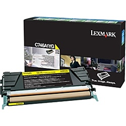 【送料無料】レックスマークレーザープリンタ C746A1YG イエローリターントナーカートリッジ 7000枚【在庫目安:お取り寄せ】| トナー カートリッジ トナーカットリッジ トナー交換 印刷 プリント プリンター