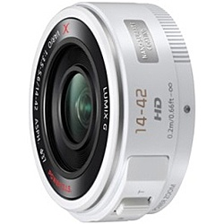 【送料無料】Panasonic H-PS14042-W デジタル一眼カメラ用交換レンズ LUMIX G X VARIO PZ 14-42mm/ F3.5-5.6 ASPH./ POWER O.I.S. (ホワイト)【在庫目安:お取り寄せ】| カメラ ズームレンズ 交換レンズ レンズ ズーム 交換 マウント