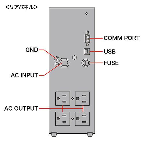 【送料無料】サンワサプライ UPS-750UXN 小型無停電電源装置(750VA/ 525W)【在庫目安:お取り寄せ】| 電源関連装置 UPS 停電対策 停電 電源 無停電装置 無停電