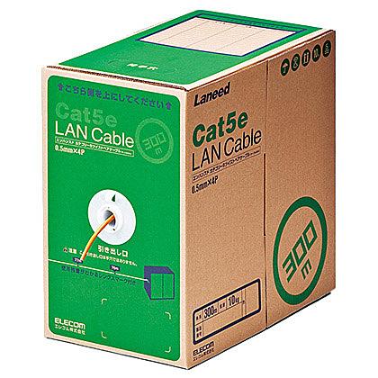 【送料無料】ELECOM LD-CT2/DR300/RS RoHS対応LANケーブル/ CAT5E/ 300m/ オレンジ/ 簡易パッケージ【在庫目安:お取り寄せ】