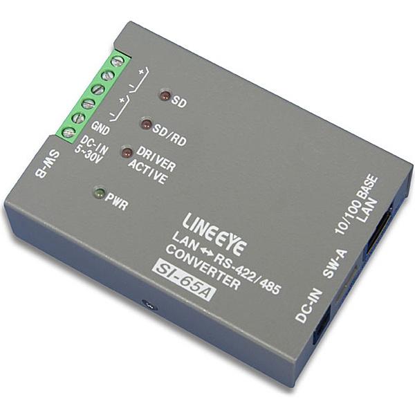【送料無料】ラインアイ SI-65A-NS インターフェースコンバータ LAN<=>RS-422/ 485 本体単体【在庫目安:お取り寄せ】