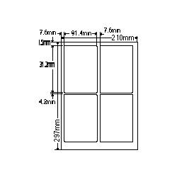 【送料無料】ナナクリエイト SCL1 カラーレーザプリンタ用ラベル光沢紙タイプ(4面)【在庫目安:お取り寄せ】| ラベル シール シート シール印刷 プリンタ 自作