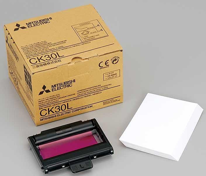 【送料無料】三菱電機 CK30L Lサイズペーパー・インクリボン 50枚×4パック入り【在庫目安:僅少】