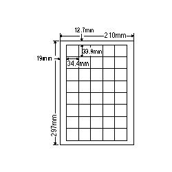 【送料無料】ナナクリエイト SCJ15 カラーインクジェットプリンタ用光沢ラベルA4(40面)【在庫目安:お取り寄せ】  ラベル シール シート シール印刷 プリンタ 自作